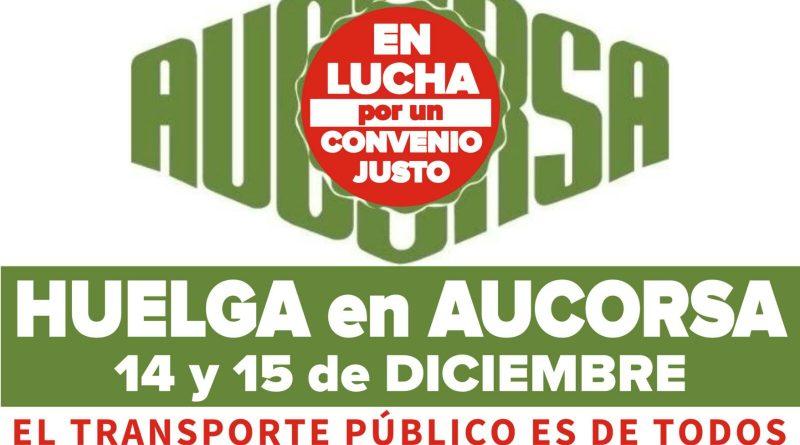 [Desconvocada] huelga en Aucorsa los próximos 14 y 15 de diciembre