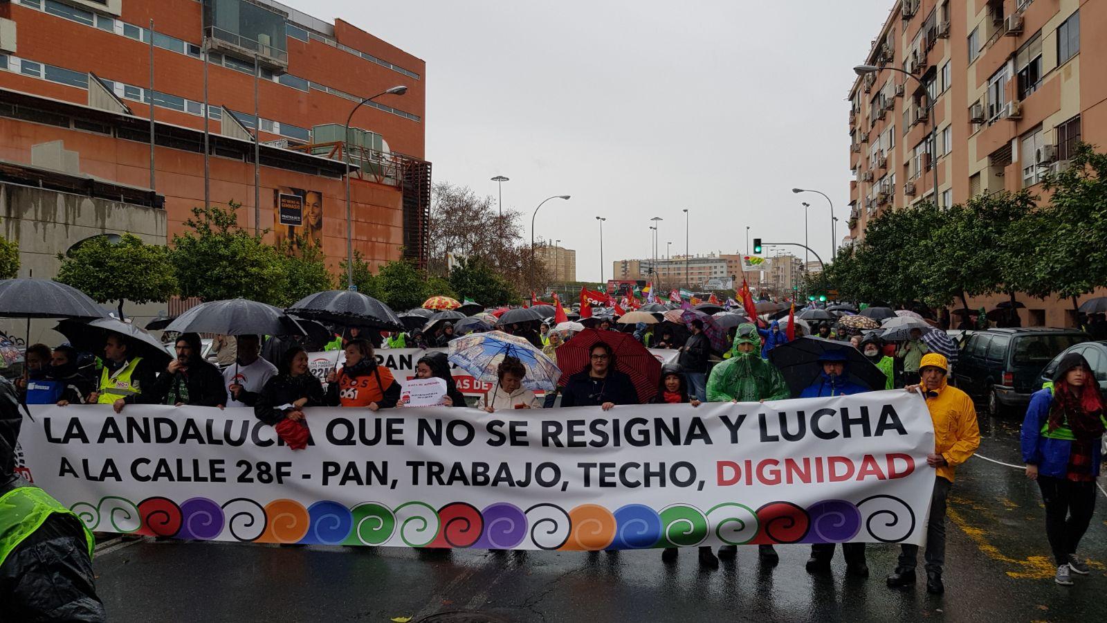 Las Marchas de la Dignidad concentran a miles de personas en Sevilla