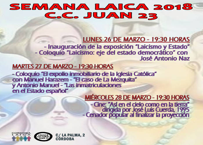 Semana Laica 2018 en el Círculo Cultural Juan XXIII