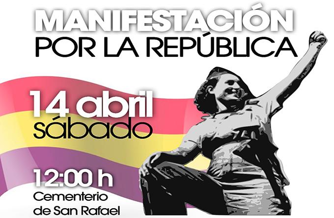 Manifestación por la República. 14 de abril, en el cementerio de San Rafael