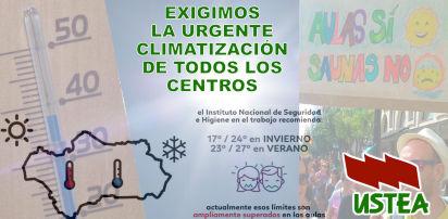 Propuestas de USTEA para la climatización de los centros educativos