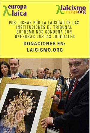 """El TS impone a """"Andalucía Laica"""" 4.000 euros de costas en el proceso contra la medalla policial a la Virgen del Amor"""