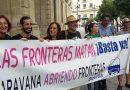 Caravana 'Abriendo fronteras' parte hacia Italia a pesar de las dificultades puestas por las autoridades transalpinas en Ventimiglia