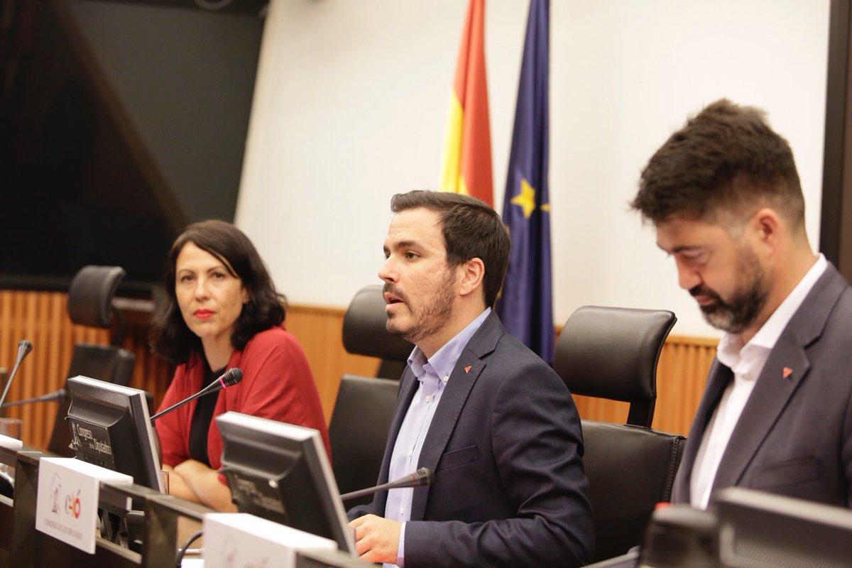 """Alberto Garzón: """"no hay democracia sin libertad, y no hay posibilidad de que exista la libertad en la pobreza"""""""