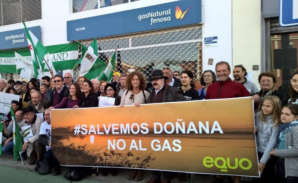 El eurodiputado de EQUO, Florent Marcellesi, vuelve a Doñana a insitir en la necesidad de promover una transición energética