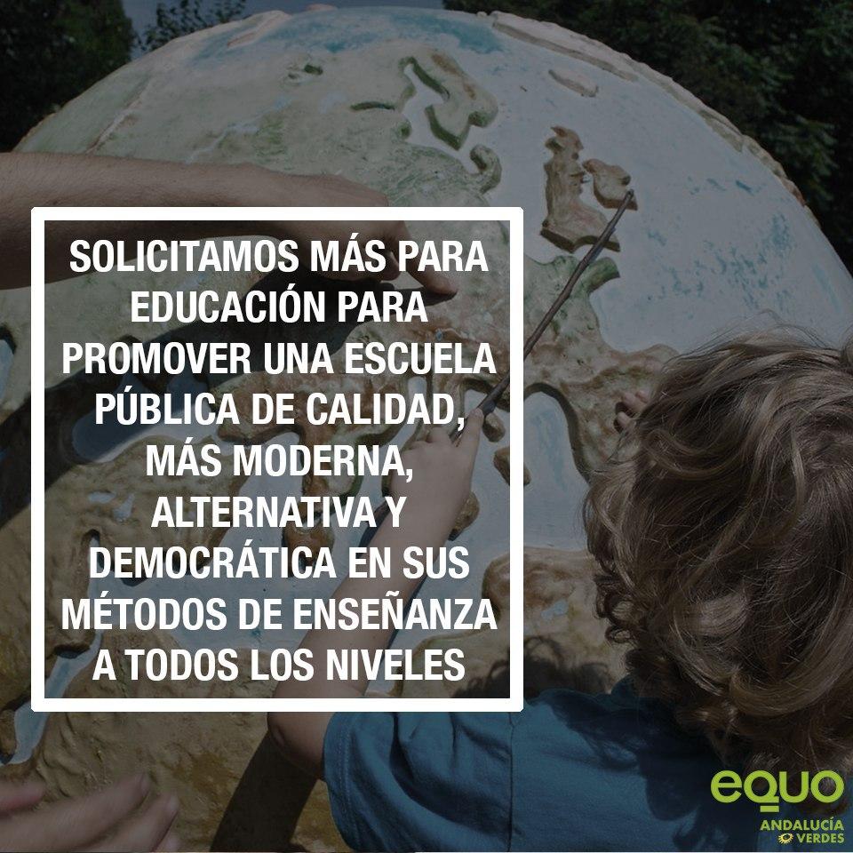 """EQUO exige más recursos para Educación frente a las """"soflamas propagandísticas"""" de la Junta"""