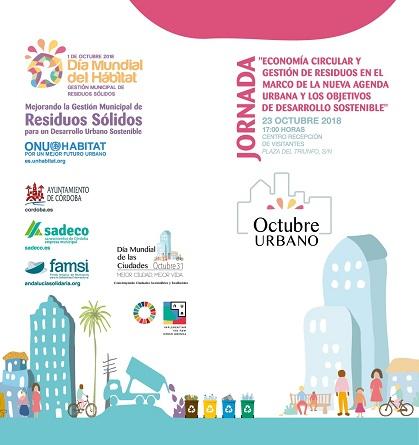 """Jornada """"Economía circular y gestión de residuos en el marco de la nueva agenda urbana y los objetivos de desarrollo sostenible"""""""
