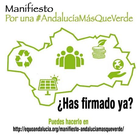 EQUO lanza su manifiesto por una 'Andalucía más que verde'