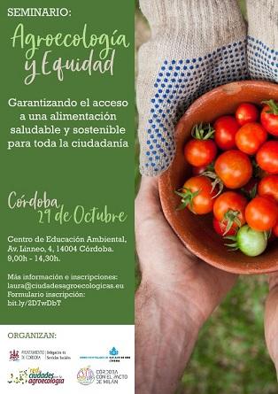 Ganemos Córdoba anima a participar en el Seminario de Agroecología y Equidad del próximo 29 de octubre