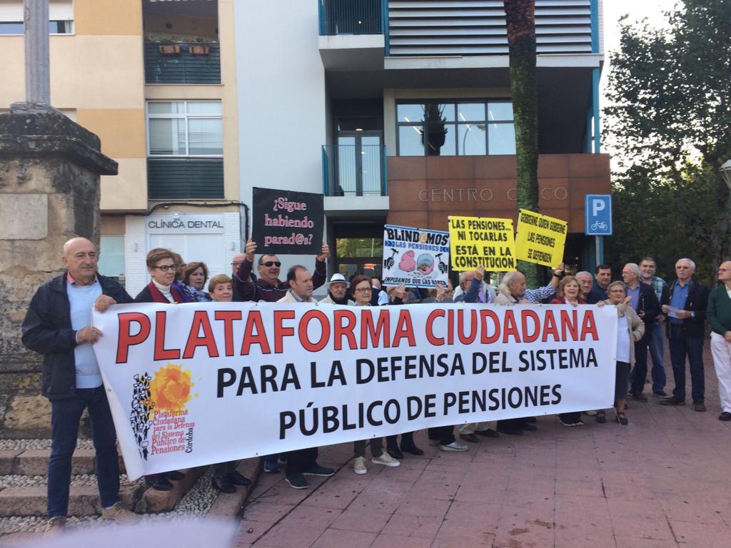 """Plataforma Ciudadana de Córdoba en Defensa del Sistema Público de Pensiones ante los PGE 2019: """"devolver lo robado en 10 años de crisis-estafa"""""""