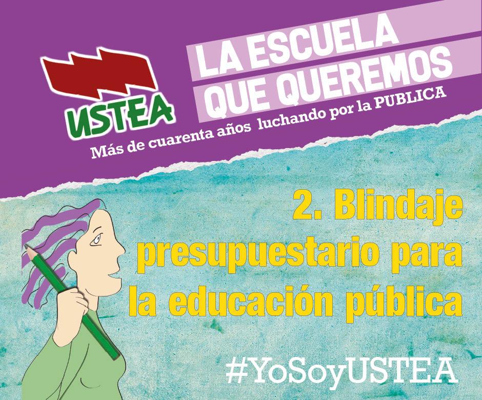USTEA concurre a las elecciones sindicales exigiendo aumentar el presupuesto educativo de la Junta de Andalucía desde el 4% al 7% del PIB
