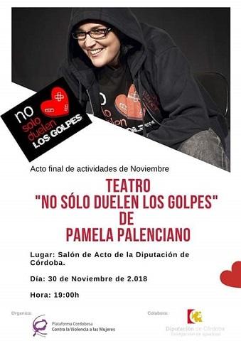 """""""No sólo duelen los golpes"""", un monólogo teatral de Pamela Palenciano"""