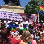 Marcha contra el racismo, la xenofobia y la política antimigratoria en Chile