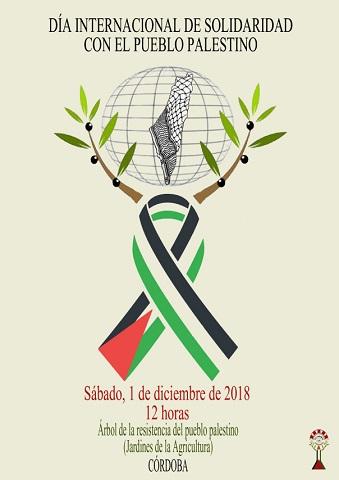 La Plataforma Córdoba con Palestina organiza una concentración el sábado 1 de diciembre para celebrar el Día Internacional de Solidaridad con el Pueblo Palestino