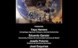 """Mesa """"Una Cosmovisión llamada Globalización"""", con Yayo Herrero, Eduardo Garzón, Josefa Polonio y José Esquinas [Vídeo]"""