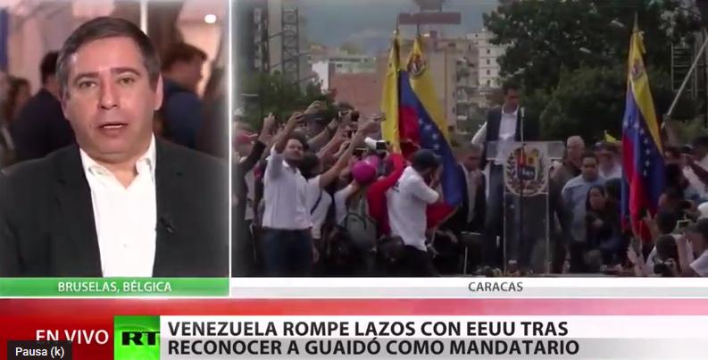 """Eurodiputado Javier Couso: """"En Venezuela se está produciendo un Golpe de Estado apadrinado y dirigido por EE.UU."""""""