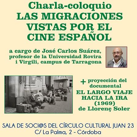 """Charla-coloquio: """"Las migraciones vistas por el cine español"""""""