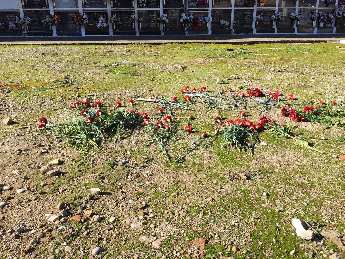 Diputados por Adelante Andalucía acudieron al cementerio de la Salud, donde continúan los trabajos de exhumación de las víctimas del genocidio franquista