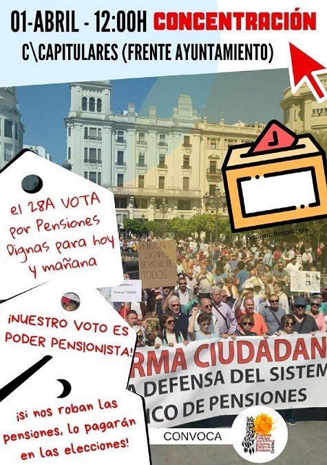 """Plataforma Ciudadana en Defensa del Sistema Público de Pensiones: """"si nos roban las pensiones, lo pagarán en las elecciones"""""""