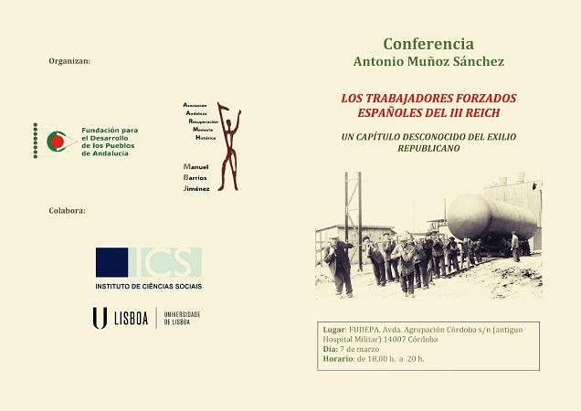 """""""Los trabajos forzados españoles del III Reich"""": conferencia de Antonio Muñoz Sánchez"""