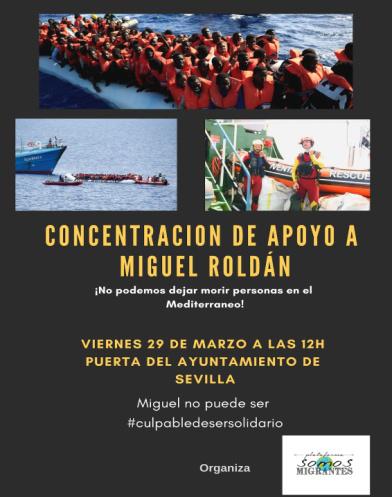 """Somos Migrantes: """"Por la defensa de la solidaridad. Salvar vidas no es delito"""""""
