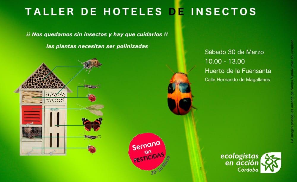Ecologistas en Acción plantea la construcción de hoteles de insectos en la semana libre de pesticidas
