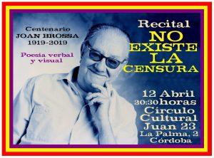 Poesía verbal y visual: Centenario Joan Brossa