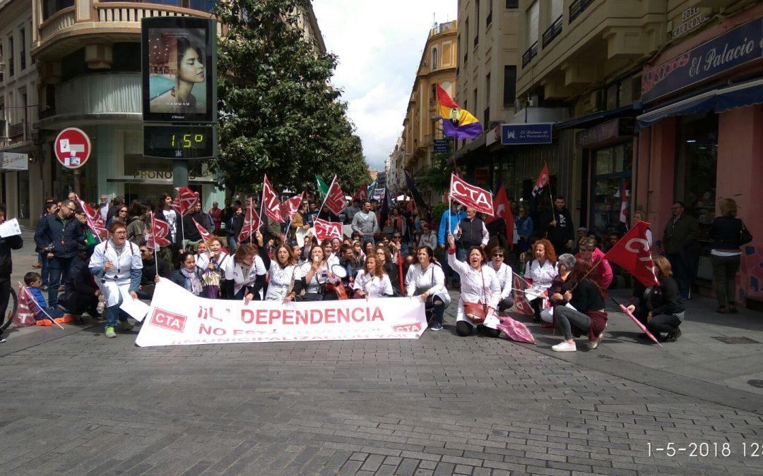 Las Delegadas de CTA de Ayuda a Domicilio se concentrarán ante el Ayuntamiento este lunes
