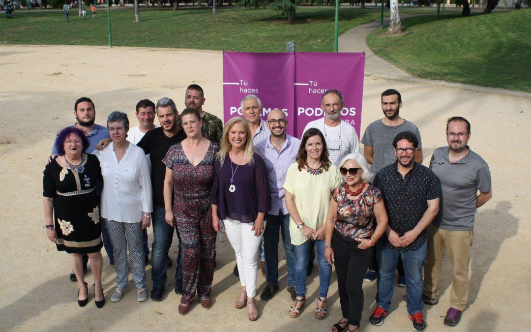Podemos Córdoba presenta a los miembros de su candidatura a las municipales