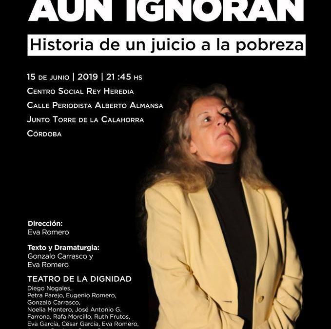 """El Teatro de la Dignidad (Extremadura) representa """"Lo que ellos aún ignoran"""" en el C.S. Rey Heredia"""