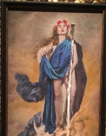 IU Córdoba condena el ataque a la obra 'Con flores a María' y apoya de forma rotunda la libertad de expresión