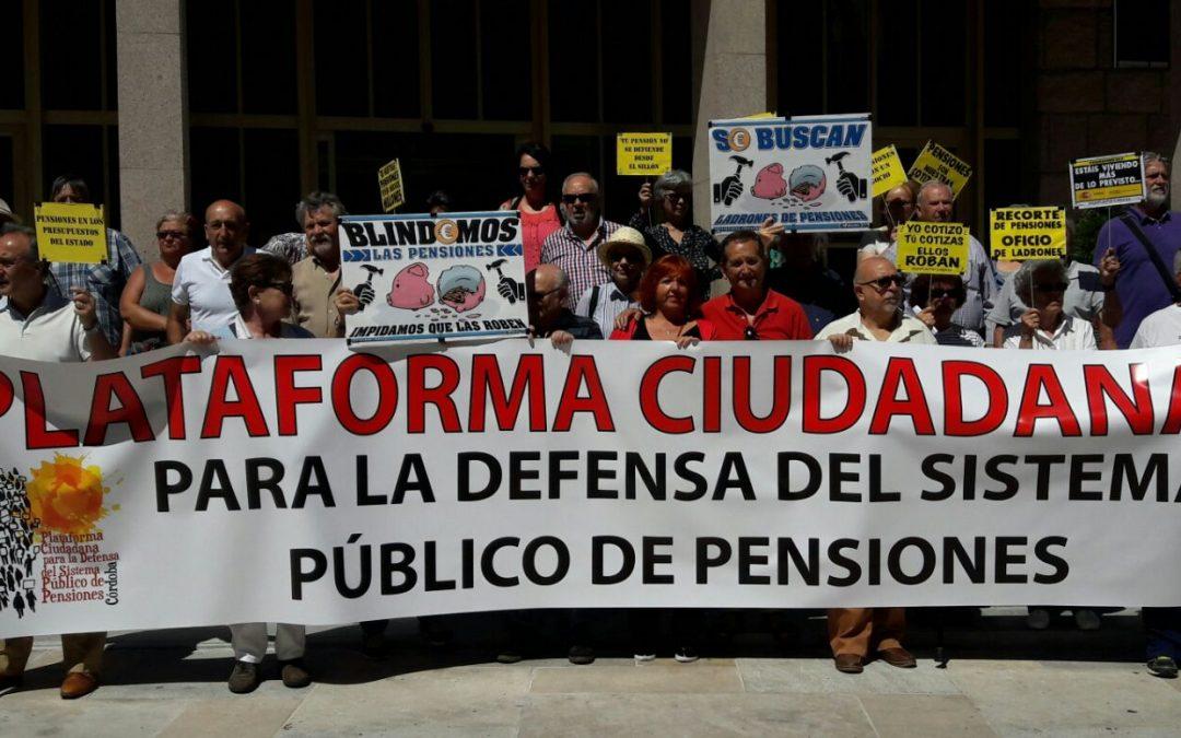 La Plataforma por la Defensa de Pensiones de Córdoba envía a los partidos un decálogo de propuestas para las elecciones municipales