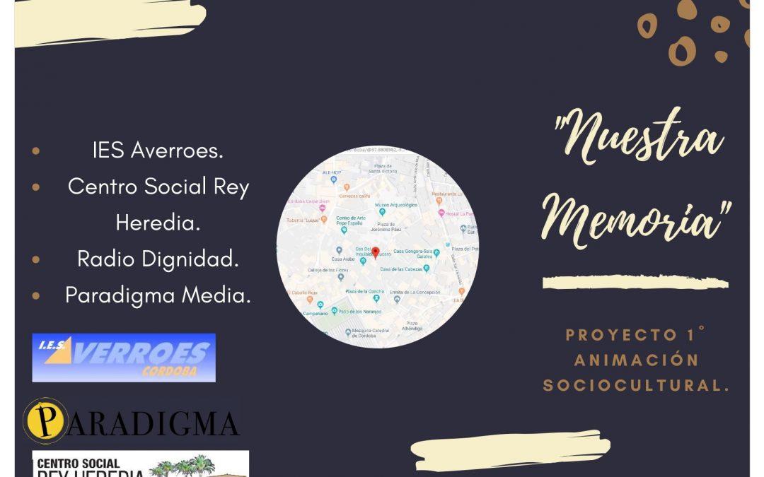 """Presentación del Proyecto """"Nuestra Memoria"""", en el C.S. Rey Heredia."""