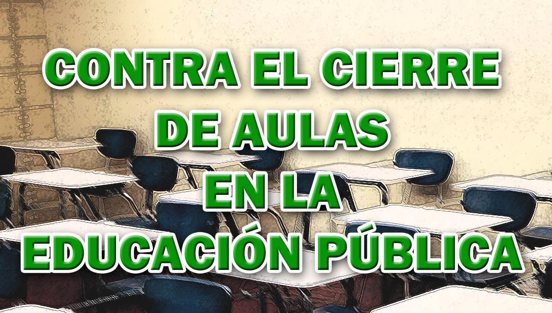 Sindicatos, AMPAS y otros colectivos se concentrarán contra el CIERRE de aulas en la EDUCACIÓN PÚBLICA