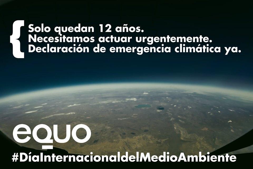 EQUO insta a declarar la emergencia climática para proteger el medioambiente y el planeta