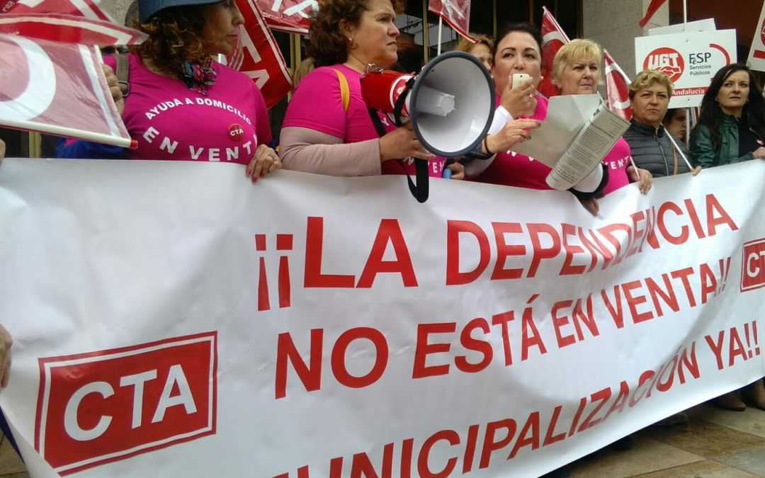 Continúa en Montilla la huelga de la Ayuda a Domicilio, prestada por la empresa MONSACOR