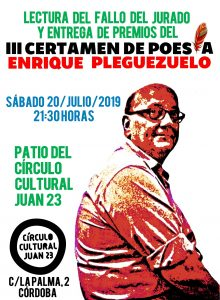 III Certamen de Poesía Enrique Pleguezuelo @ C.C. Juan XXIII