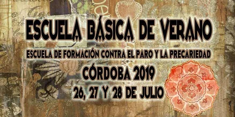 Córdoba acogerá la V Escuela Básica contra el Paro y la Precariedad