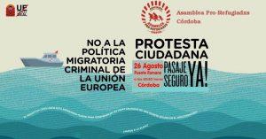 Concentración contra la política migratoria de la UE @ Puente Romano Córdoba   Córdoba   Andalucía   España