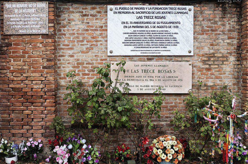 Que los nombres de las Trece Rosas no sean borrados de la Historia