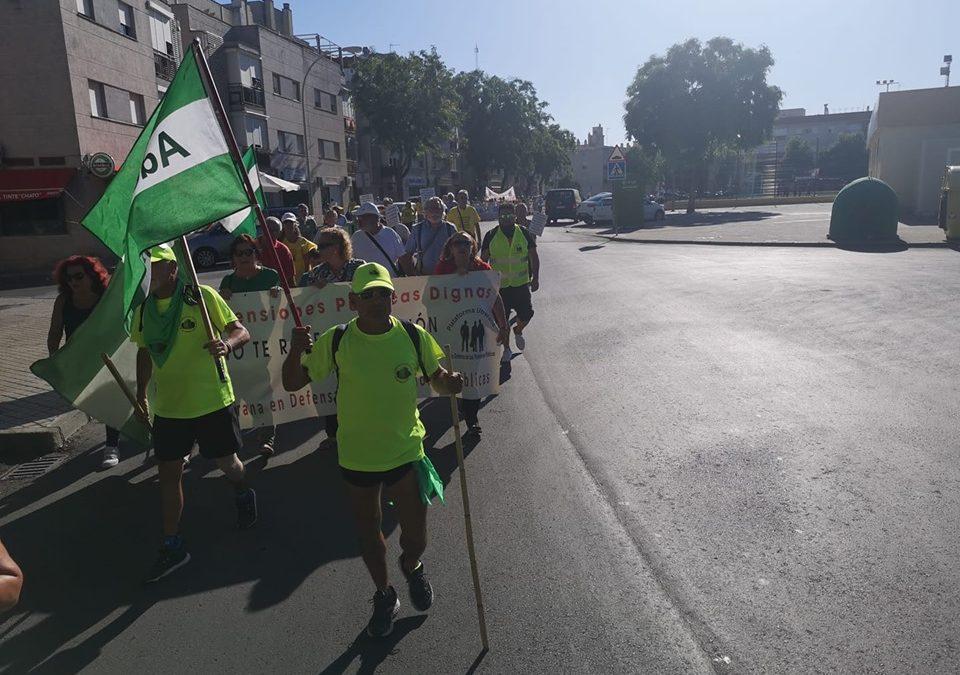 Cuarta etapa de la Marcha por las Pensiones.