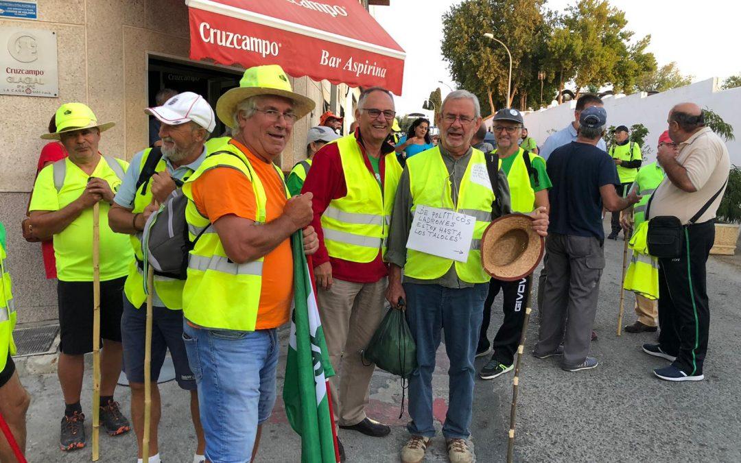 Tercera jornada de marcha de los y las pensionistas desde Rota a Madrid.