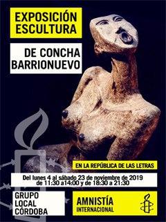 Exposición de escultura de Concha Barrionuevo