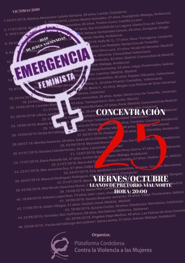 Concentración por las más de 1000 mujeres asesinadas