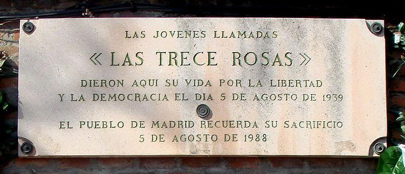 La Coordinadora Andaluza por la Memoria Histórica y Democrática Apoya a la Asociación 13 Rosas Asturias