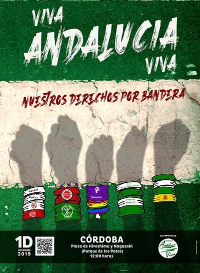 """Este domingo, 1 de diciembre, Manifestación en Córdoba de la Plataforma """"Andalucía Viva"""""""