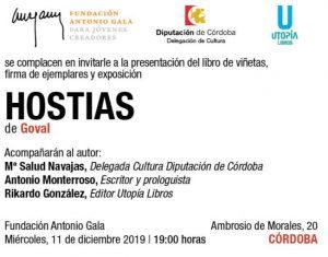 HOSTIAS: presentación del libro de viñetas, exposición y firma de ejemplares @ Fundación Antonio Gala
