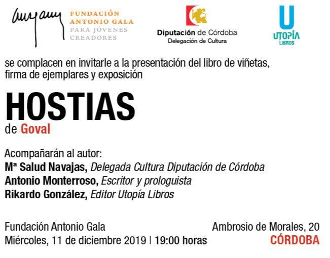 HOSTIAS: presentación del libro de viñetas, exposición y firma de ejemplares