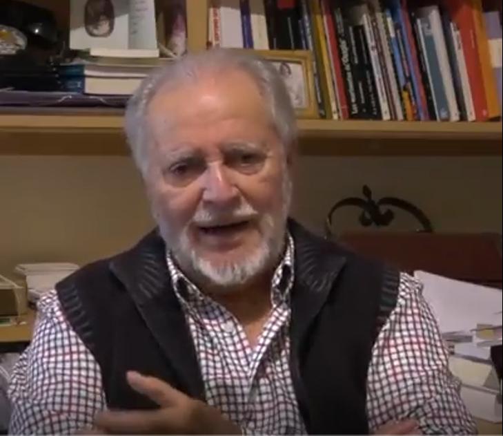 """Julio Anguita: """"Aquellos que lo pasan mal a final de mes, votad a Unidas Podemos"""""""