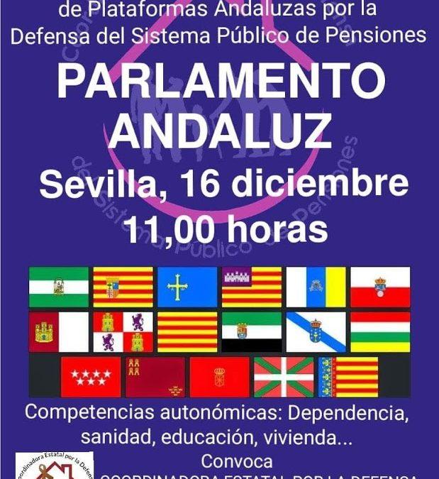 Concentración por las pensiones públicas en Sevilla el 16 de diciembre